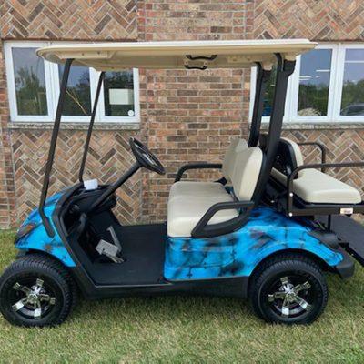 2014 Custom Blue & Black Golf Car