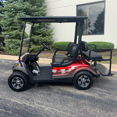 2015 Red and Silver Golf Car